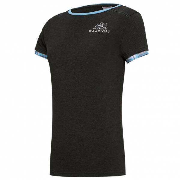 Glasgow Warriors macron Mujer Camiseta de aficionado casual 58097551