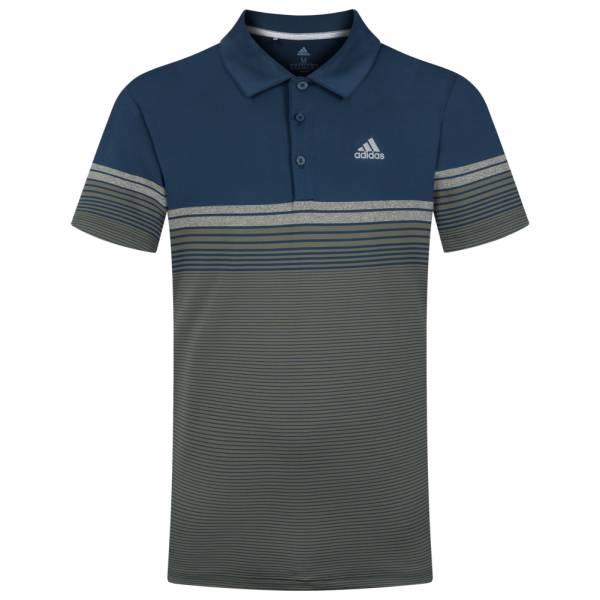 adidas Ulimate365 Gradient Block Stripe Men Golf Polo Shirt FK9747