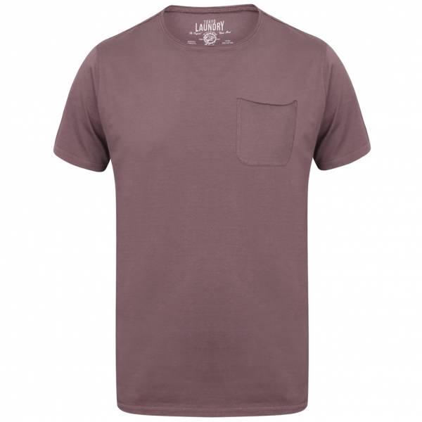Tokyo Laundry Zac Crew Neck Pocket Herren T-Shirt 1C10666A Black Plum
