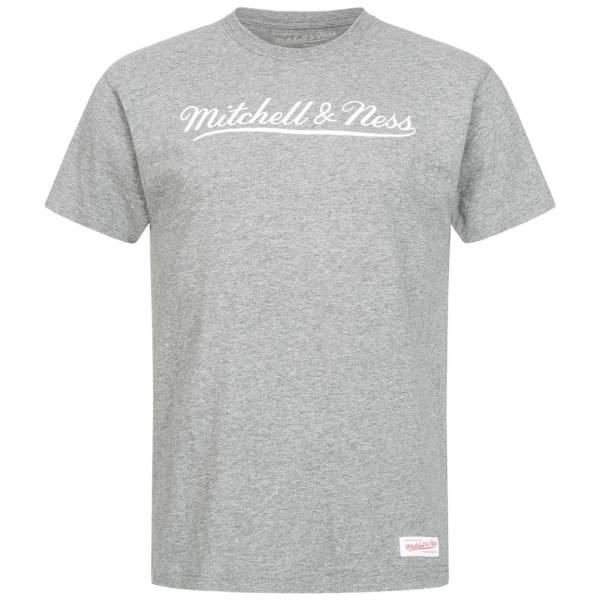 Mitchell & Ness Script Uomo T-shirt MN-BRA-SCRPTLOGOTRAD-GRYWHT