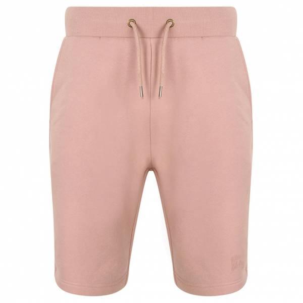 Tokyo Laundry Falcon Herren Fleece Jogger Shorts 1G10465 Dusty Pink