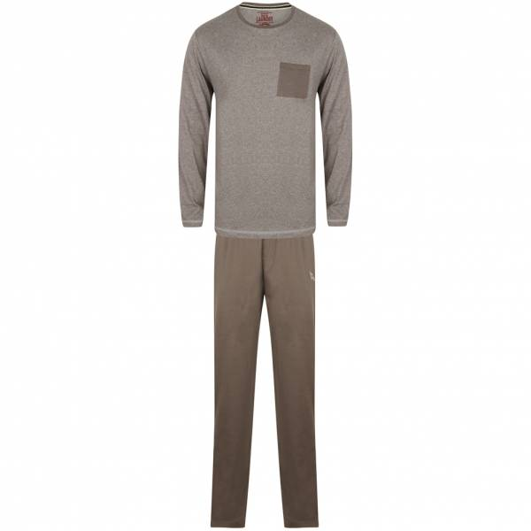 Tokyo Laundry Jeddo Cotton Lounge Set Herren Pyjama Set 1Q9806 Gull Grey Marl