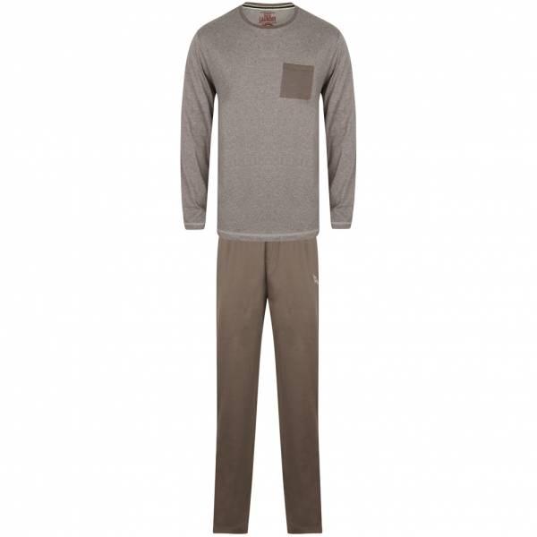 Tokyo Laundry Jeddo katoenen loungeset Heren pyjama set 1Q9806 meeuw grijs Marl