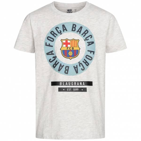 FC Barcelona Emblem Jungen T-Shirt White FCB-3-399B