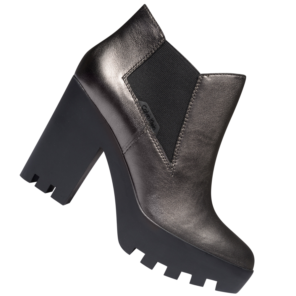 Calvin Klein Jeans Sandy Velvet Damen Plateaustiefeletten R0589ANT