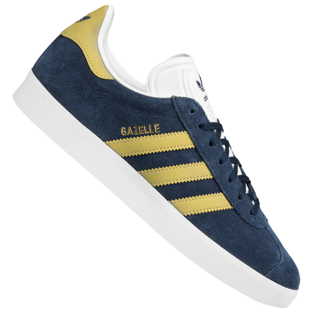 Details zu adidas Originals Gazelle Sneaker Herren Freizeitschuh blau gold Lifestyle CP9705