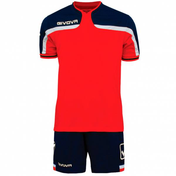 Givova football set jersey with Short Kit America red / navy