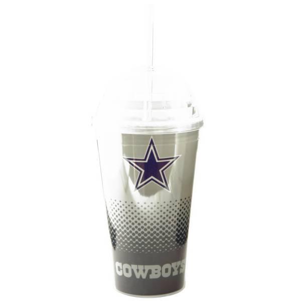 Dallas Cowboys NFL Fan Trinkbecher mit Trinkhalm DWNFLFADETSRDC