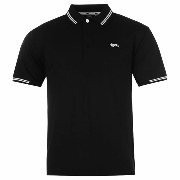 Lonsdale Herren Classic Polo-Shirt schwarz