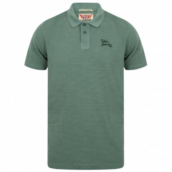 Tokyo Laundry Don Slub Pique Cotton Herren Polo-Shirt 1X10736 Mediterranea