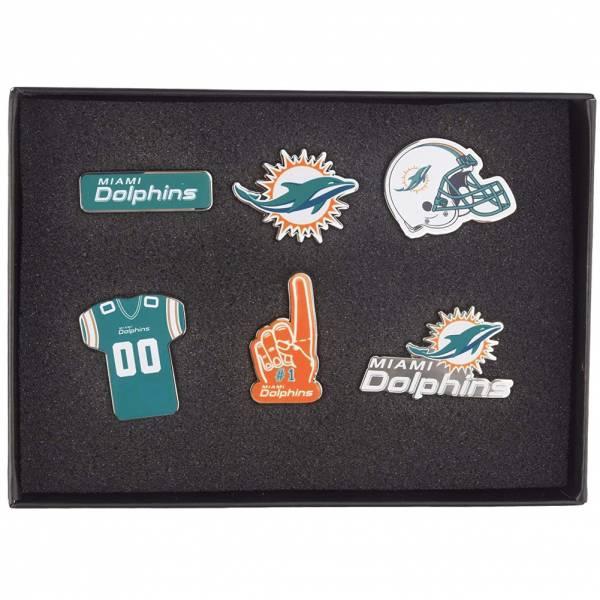 Miami Dolphins NFL Metall Pin Anstecker 6er-Set BDNFL6SETMD