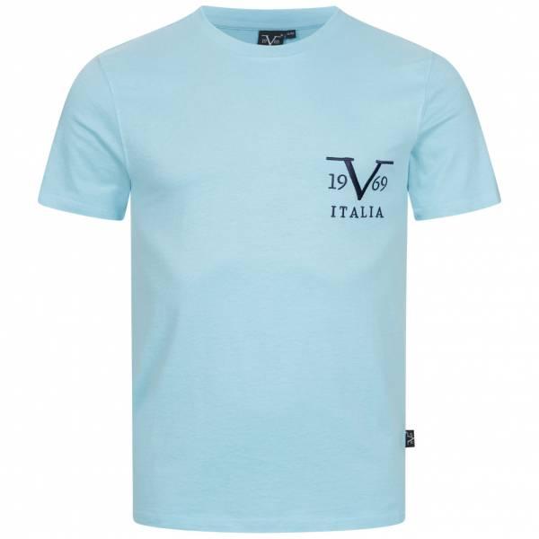 19V69 Versace 1969 Basic Big Logo Herren T-Shirt VI20SS0008B hellblau