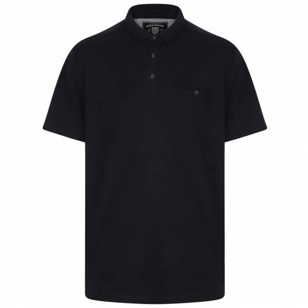 Kensington Eastside Landseer Textured Herren Polo-Shirt 1X10691 True Navy
