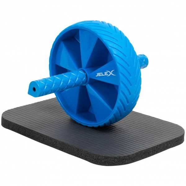 JELEX Sixpack Bauchtrainer Ab Wheel schwarz-blau