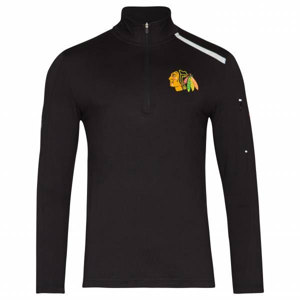 Chicago Blackhawks Fanatics 1/4-Zip Herren Trainings Sweatshirt MA27127A2AE45U