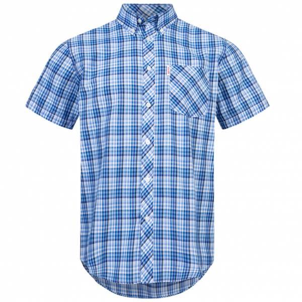 BRUTUS JEANS Overhemd met korte mouw 10008 Lichtblauwe meerkleurige gingham