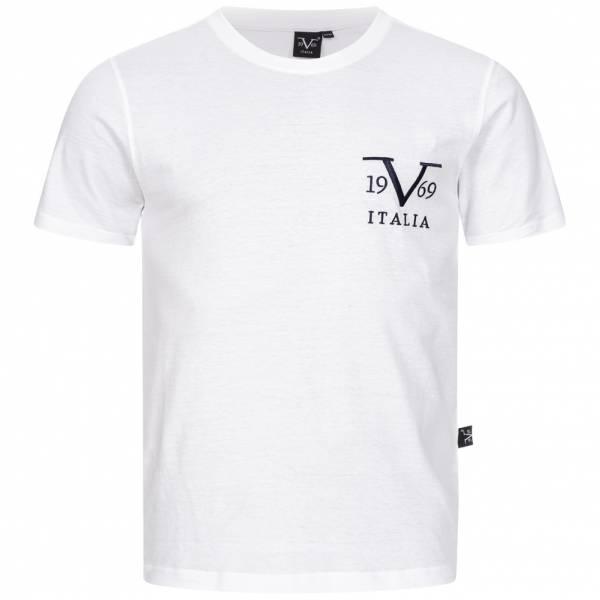 19V69 Versace 1969 Basic Big Logo Herren T-Shirt VI20SS0008A weiß