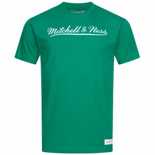 Mitchell & Ness Script Herren T-Shirt MN-BRA-SCRPTLOGOTRAD-GRNWHT