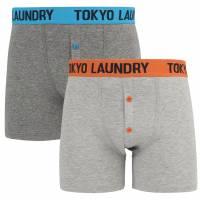 Tokyo Laundry Frinton 2er Pack Herren Boxershorts 1P10926 pumpkin-blue
