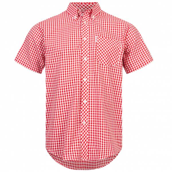 BRUTUS JEANS Kurzarm Hemd 10002 Red Gingham