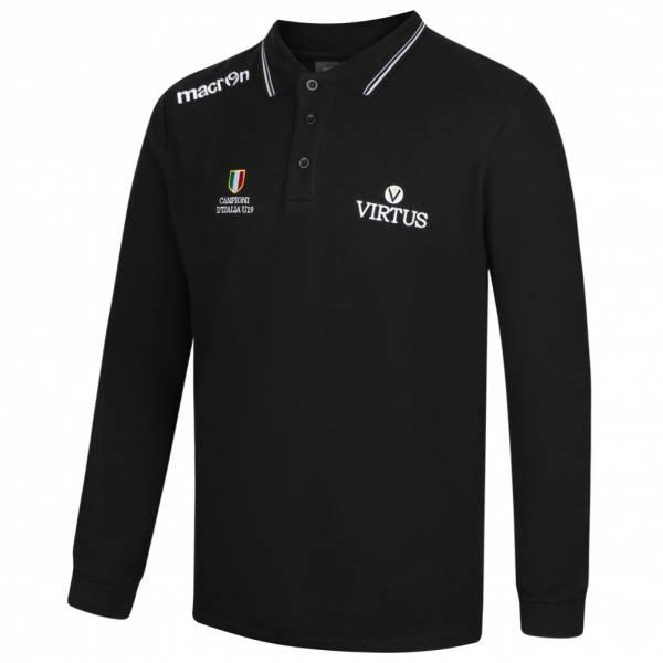 Virtus Bologna macron Herren Freizeit Fan Langarm Polo-Shirt 40000896