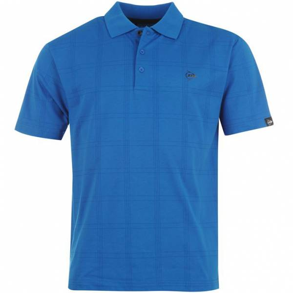 Dunlop Golf Tour Herren Polo-Shirt kariert blau