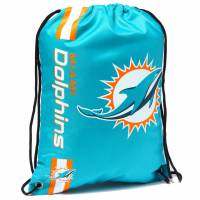Miami Dolphins NFL Drawstring Backpack Gym Bag LGNFLCLGYMMD