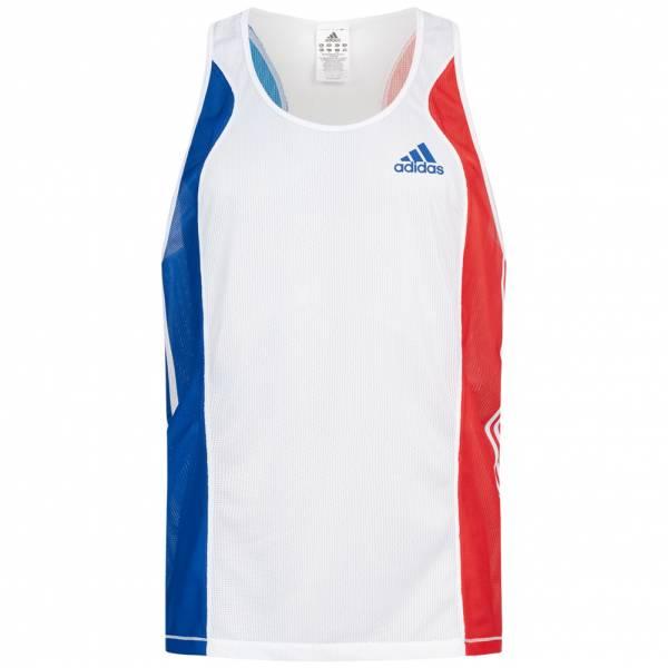 Frankreich adidas Herren Leichtathletik Singlet Top P07539