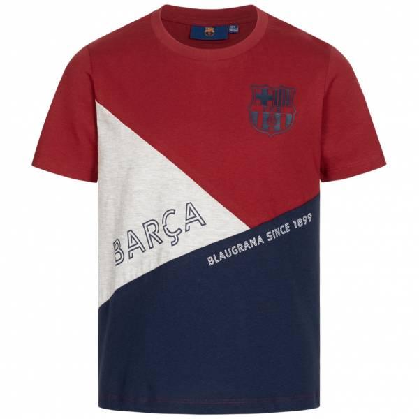 FC Barcelona Team Crest & Logo Jungen T-Shirt FCB-3-383