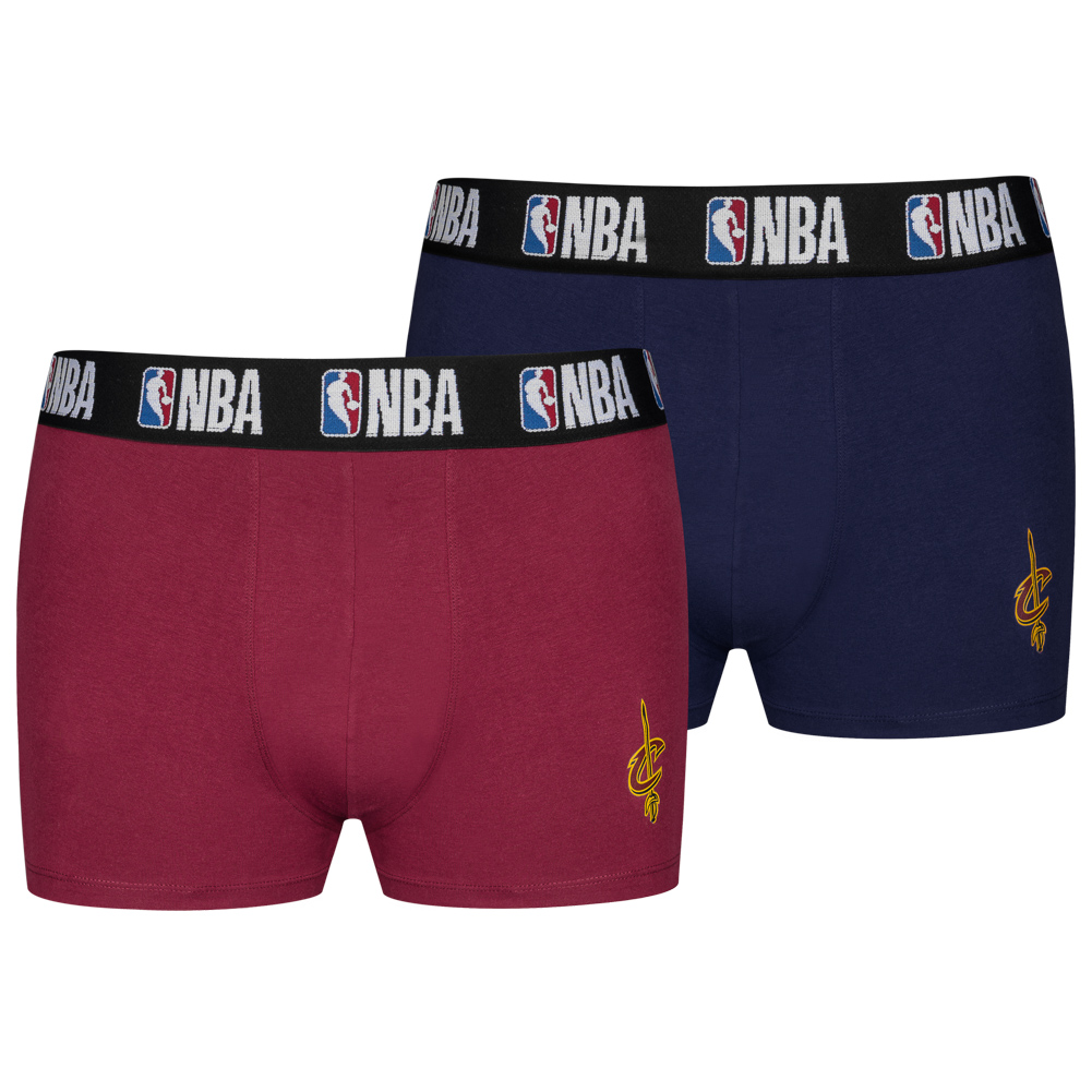 new style 01791 facb6 Cleveland Cavaliers NBA Men's 2 Pack Boxer Shorts 8003712-CAV