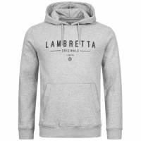 Lambretta Hoodie Herren Kapuzen Sweatshirt SS9881 Grey Marl