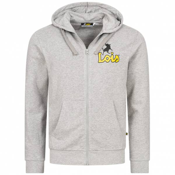 Lois Jeans Small Logo Herren Sweatjacke 5E-LHJKTM-SL-Light Grey
