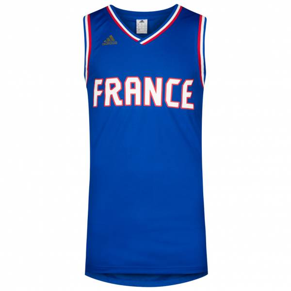 b37b6182fe93 France adidas men s basketball jersey S88403 ...