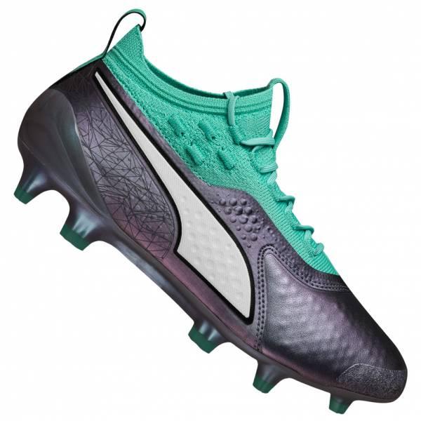 PUMA ONE 1 Illuminate FG / AG Kids leather Football Boots 104935-01