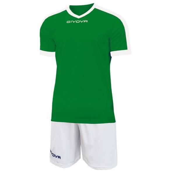 Givova Kit Revolution Maillot de football avec Short vert blanc