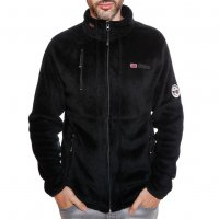 Geographical Norway Herren Fleece Jacke Upload WN005H Schwarz