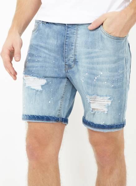 Bon plan 78% de réduction sur BRAVE SOUL Jack Denim Jeans pour homme Short