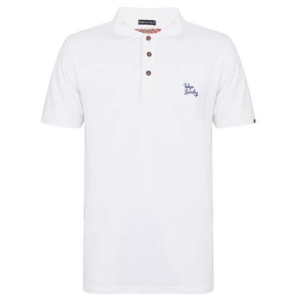 Tokyo Laundry Roseville Cotton Pique Herren Polo-Shirt 1X10922 Optic White