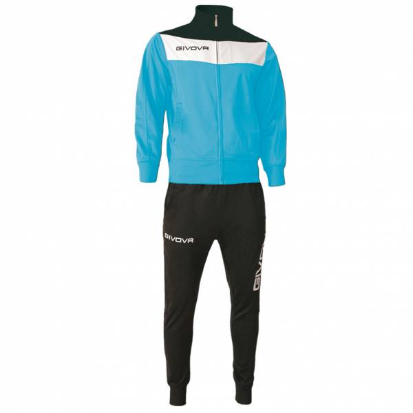 Givova Tuta Campo Tracksuit light blue / black