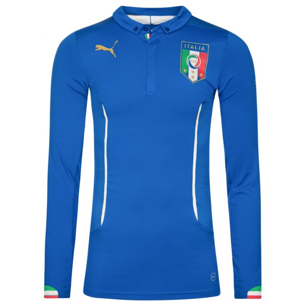Italien PUMA Herren Heim Langarm Trikot Player Issue 744196-01
