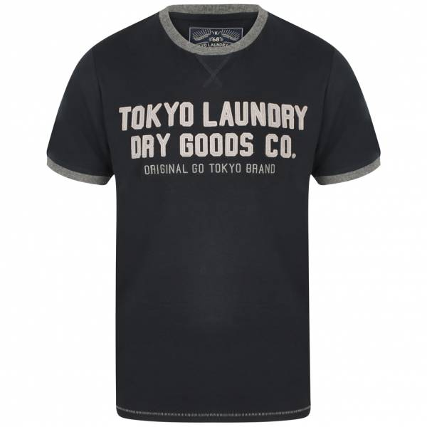 Tokyo Laundry Williamburg Men Logo T-shirt 1C11474 Dark Navy