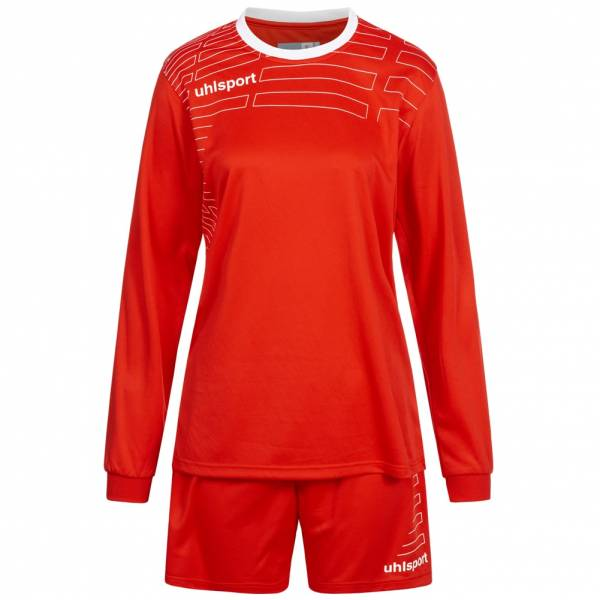 Uhlsport Match Damen Fußball Set Langarm Trikot mit Shorts 100316901