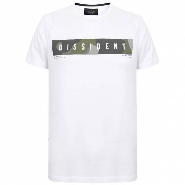 DNM Dissident Gima Herren Logo T-Shirt 1C12392 Optic White