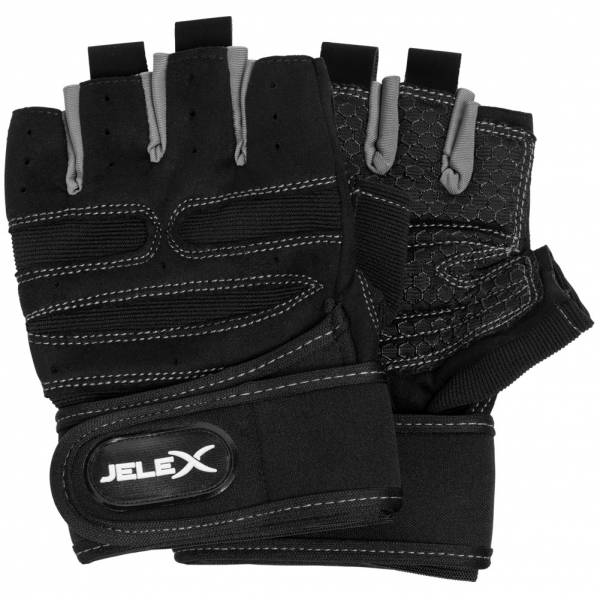 JELEX Fit gepolsterte Trainingshandschuhe schwarz-grau