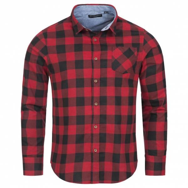 BRAVE SOUL Jack Check Print Flannel Herren Karo Hemd MSH-69JACKF Red