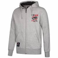 Ecko Unltd. Millbrook Zip Logo Hoody Herren Sweatjacke ESK4304 Ath Grey Marl