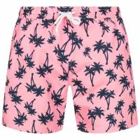 HENLEYS Maro Palm Herren Badeshorts HTG00838 Candy Pink