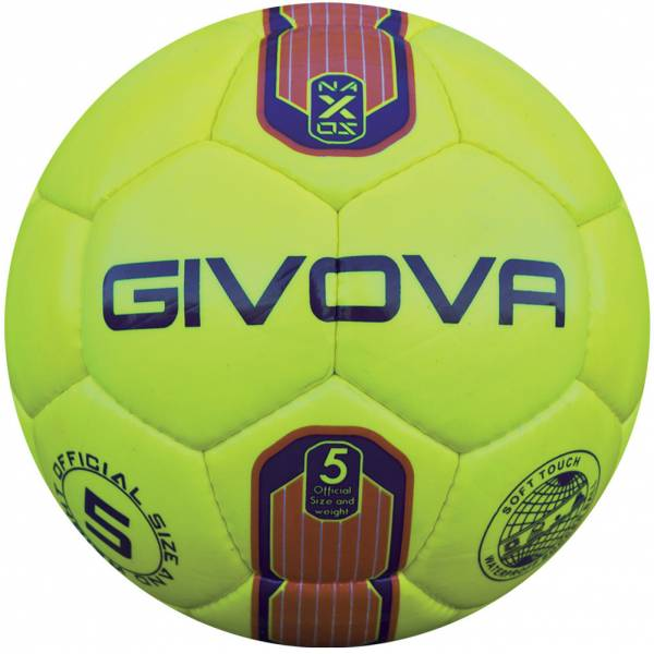 "Givova Ballon de foot ""Naxos"" jaune fluo / orange"