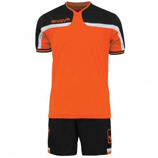 Maillot de football Givova avec Short Kit America orange / noir
