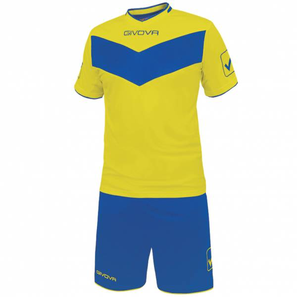 Givova football Set Jersey with Shorts Vittoria yellow / blue